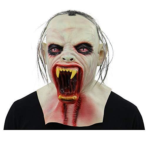 VECDY Karneval Venezianische Gruselige Zombie Latexmaske mit Haar Cosplay Helm Halloween-Kostüm Terroristische Perücke Ballmaske Maskerade