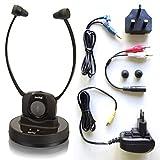Switel TVL300 drahtloser In Ear Kopfhörer für TV und Musik mit Lautstärkeregelung, Stummschaltung und Verstärkung bei Hörschwäche