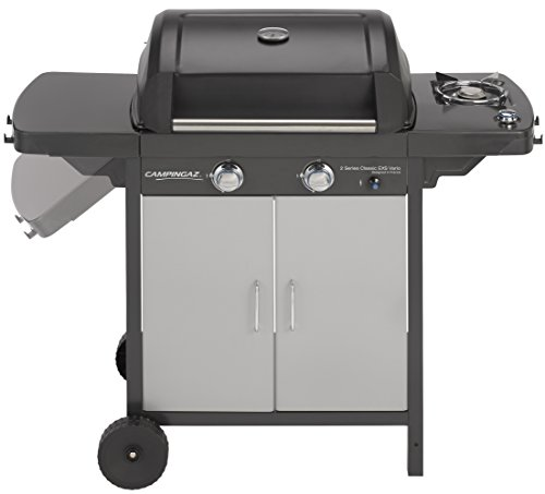 Campingaz Gas BBQ 2 Series Classic EX Vario 127.4 x 54.1 x 108.5 cm with 2 Stainless Steel Burner Barbecue and Side Burner