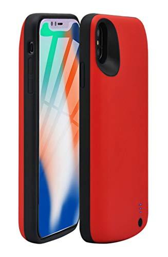 Fey-EU iPhone XR Akku Hülle, 6000mAh Ultra Dünn Ladehülle Akku hülle für iPhone XR Ladegerät Batterie Hülle Schutzhülle Wiederaufladen Leistungsstarke Power Bank, Rot (Iphone 4 Akku-case Rot)