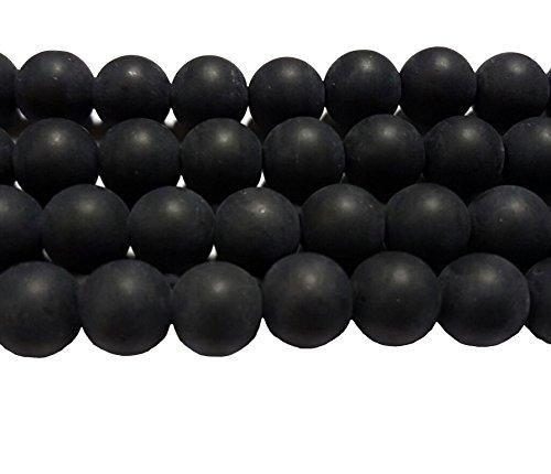 n SCHWARZ KUGELN 8mm Matt Strange Vereist Perle zum fädeln für DIY Schmuck Herstellung R89 (Ninjago Ware)