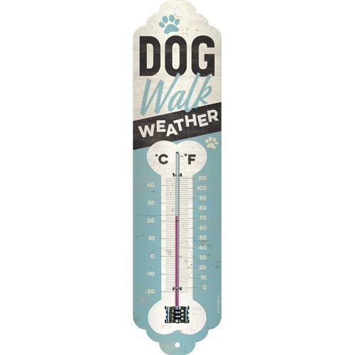 Nostalgic-Art 80326 - Dog Walk Weather , Retro Thermometer , Innen , Vintage Wand-Dekoration