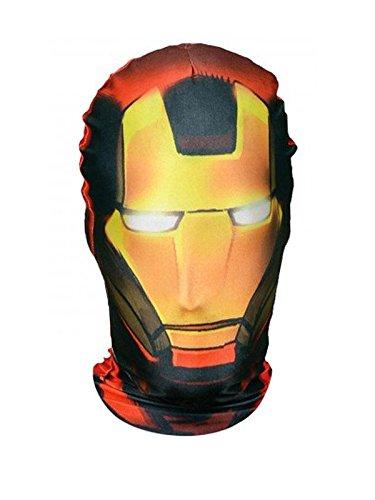 Marvel Ironman Morph Maske Lizenzware rot (Maske Morph Schwarz)