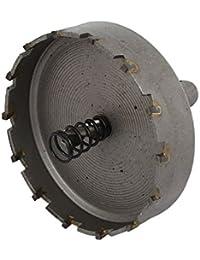 Tradico® 70mm Cutting Dia 6mm Twist Drilling Bit TCT Straight Shank Hole Saw Gray