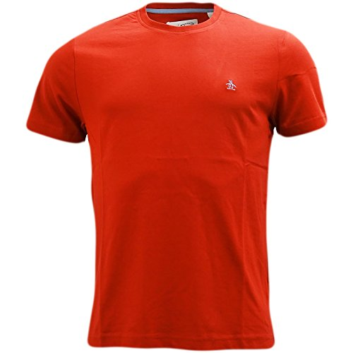 Original Penguin Herren T-Shirt Pin Point Rot