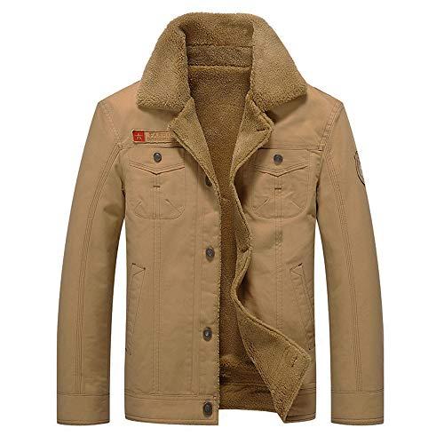 CICIYONER Männer Einfarbig Trenchcoat丨Herbst Winter Sweatjacke丨Revers Knopf Bikerjacke丨Casual und Business Slim fit Windbreaker M-5XL