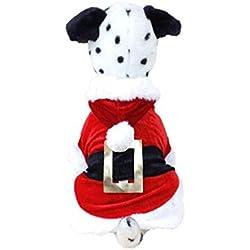 Meily Disfraces de navidad ropa para perros de Santa Perrito Pet Apparel nuevo diseño (L)
