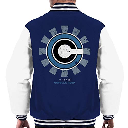 Cloud City 7 Capsule Corp Retro Japanese Men's Varsity Jacket