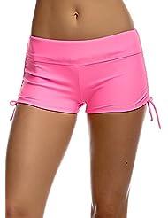 OUO Damen UV Schutz Wassersport Schwimmen Bikinihose Badeshorts Schwimmshorts