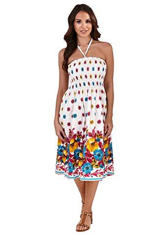 pistachio Damen Bandeau-Kleid oder Rock mit Blumenmuster Gr. Größe-Medium-38-40, Pink Ditsy Floral