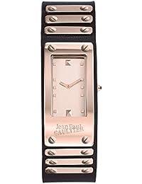 Reloj Mixta–Jean Paul Gaultier–Factory–acero PVD Rosé–Pulsera Piel Negro–40* 21mm–8503803