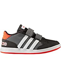 Adidas - Hoops Cmf C - AQ1656 - Farbe: Weiß-Grau-Orangefarbig - Größe: 28.0