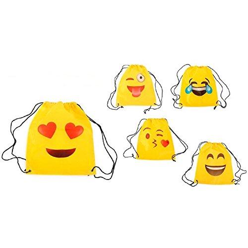 Lote de 10 Mochilas Petate Emoticonos - Mochilas, petates infantiles, infantil para niños y niñas. Regalos, detalles y recuerdos baratos...