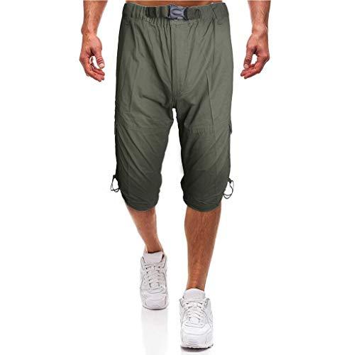 Prime day shorts,kurze Herren Hose Sommer beiläufige Hosen arbeiten die Kurzschlüsse der mittleren Aufstiegs-Männer um, die lose Mehrfachtaschenwerkzeughosen sind von Evansamp(Armeegrün,XXL) - Aufstieg Kurz