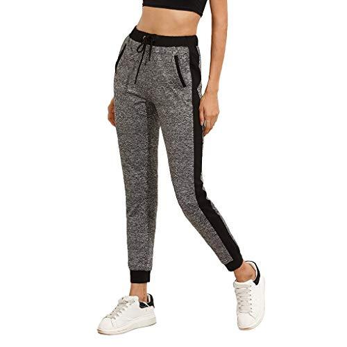 SIOPEW Hosen Frauen-beiläufige Taschen-beiläufige elastische Hosen-Längen-Hosen Sweatpants-Hosen