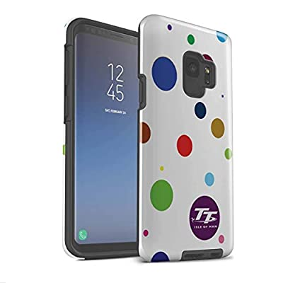 Isle of Man TT Official Téléphone Cas/Gloss Tough Shock Proof Couvrir for Samsung Galaxy S9/G960 / Polka Dot Colours Design/Elegance Collection
