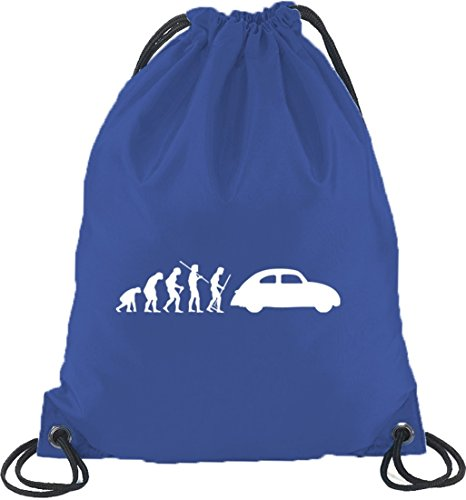 Shirtstreet24, Evoluzione Cult Car, Borsa Sportiva Borsa Sportiva Blu Royal