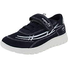 Superfit Boys' SPORT7 Mini Sneaker, Blue Blue 80, 11.5 UK