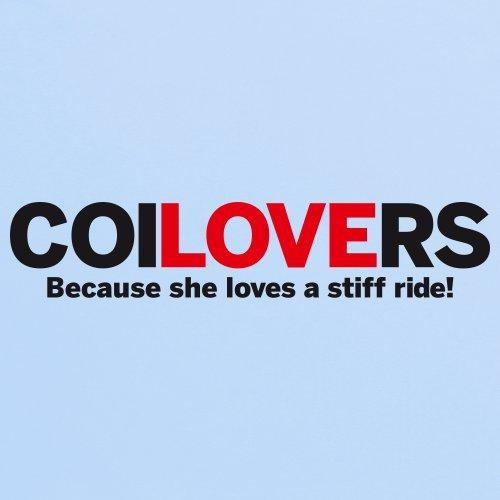 Love coilovers T-Shirt, Herren Himmelblau