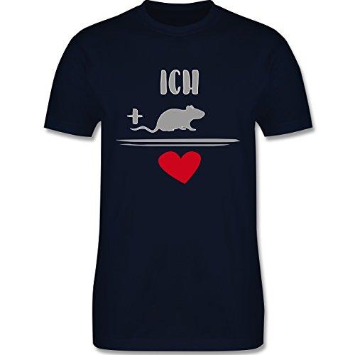 Statement Shirts - Ratten-Liebe - Herren Premium T-Shirt Navy Blau