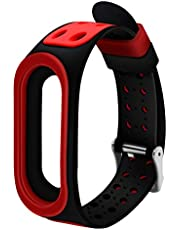 GoFree Strap for Xiaomi Mi Band 4/3 [with Metal Buckle] – Twin Colour Mi Band 4 Strap (Red & Black)