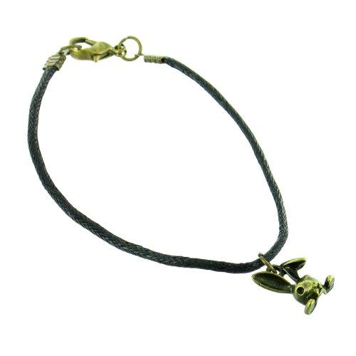 Ilovefj nero mini coniglio braccialetto