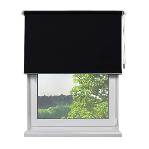Fertig Verdunkelungsrollo, Rollos für Fenster, Rollo, Farbe schwarz, zum Bohren und Schrauben, verdunkelnd und...