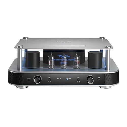 """McGee """"Legend"""" Hybridverstärker, für warmen Röhren-Sound, Hifianlage, mit Bluetooth-Funktion & WLAN, in silbernem Design, mit LED-Beleuchtung"""