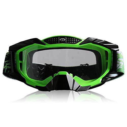 Aienid Sportbrille Clear Transparent Grün Schwarz Skibrille Winddichter Augenschutz Size:19X10CM