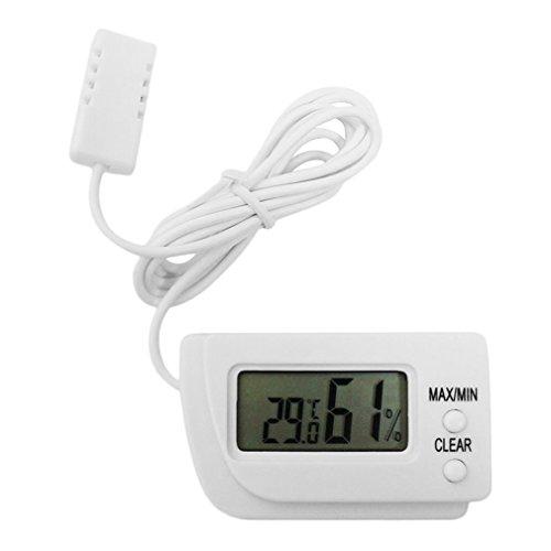 leoboone Mini-LCD-Digital-Ei-Brut Thermometer Hygrometer Fernmeßinstrument Fernmessung von Feuchtigkeits- und Temperatur Flip Out Ständer -