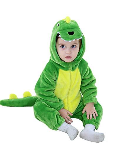 kleinkind-säugling tiger dinosaurier tier kostüm Grün 80(Height:26