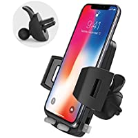 Car Phone Holder, Avolare Car Phone Mount Air Vent Universal Car Holder 360 Degree Adjustable Car Cradle One Button Release for iPhone X 8 8 Plus 7 7 Plus 6s 6 Plus 5s 5, Samsung Galaxy HTC Sony and Other Devices