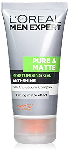 L'Oreal, Men Expert Pure & Matte Anti-Shine, gel idratante, 50 ml (etichetta in lingua italiana non garantita)