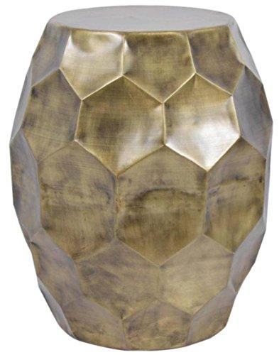 Madhus \'s Collection Honeycomb rund Hocker/Beistelltisch, antik Messing Finish
