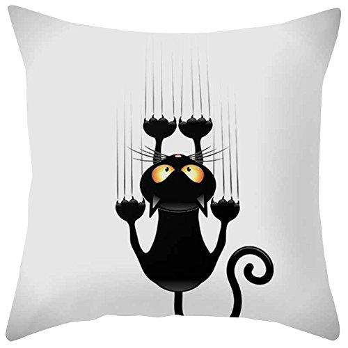 iCJL quadratischer Kissenbezug für Sofa, Sofa, Schlafzimmer, Kissenbezug Modern 45x45cm Multicolour-a -