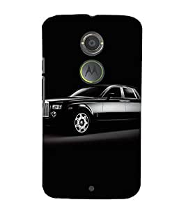 VINTAGE LUXURIOUS BLACK AUTOMOBILE 3D Hard Polycarbonate Designer Back Case Cover for Motorola Moto X2 :: Motorola Moto X (2nd Gen)