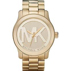 Michael Kors MK5473-Reloj de pulsera, chapado en oro), color dorado