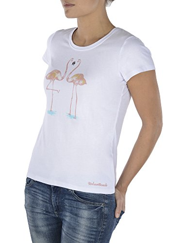 Urban Beach Nile T-Shirt de Sport Femme Blanc