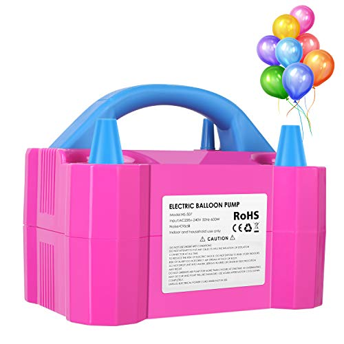 MVPower Luftballonpumpe Elektrische Aufblasgerät Luftballons Pumpe Ballonpumpe Gebläse Pumpe, 2 Inflationsmodi, 600W