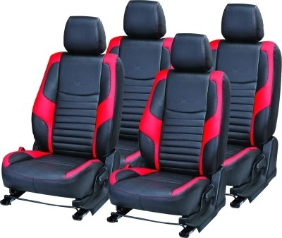 khushal leatherite car seat cover for maruti wagon r ks010mwagonr black/red with free steering cover Khushal Leatherite Car Seat Cover for Maruti Wagon R KS010MWAGONR Black/Red with free Steering Cover 41FeDk43ViL