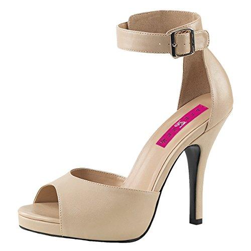 Heels-Perfect , Hi-Top Slippers femme Beige