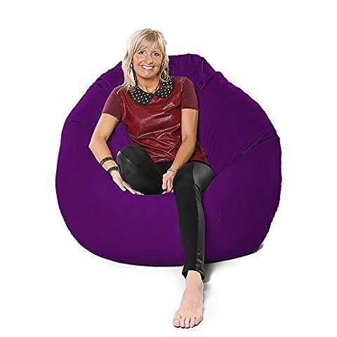 RU Comfy Jumbo Flub a Dob Bean Bag, Fabric, Purple