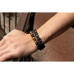 Armband Etnische Tigerauge Spirit für Herren Männer Damen Frauen Schmuck BS3014-8.0