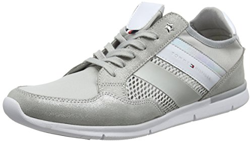 Tommy Hilfiger Damen METALLIC Light Weight Sneaker, Grau (Diamond Grey 001), 40 EU Diamond Sneaker