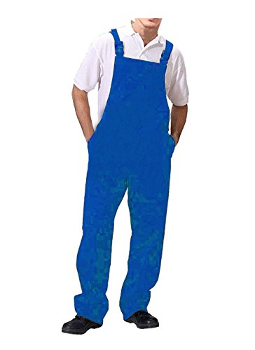 Road Master Bib and Brace Dungaree Overalls Painters Suit For Decorators Builders, Royal Blue, Medium