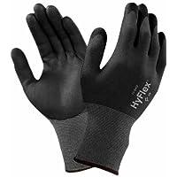 Ansell HyFlex 11–840–Guantes para Usatges múltiples, protección mecánico, negro