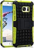 ONEFLOW Samsung Galaxy S7   Hülle Silikon Hard-Case Grün Outdoor Back-Cover Extrem Stoßfest Schutzhülle Grip Handyhülle für Samsung Galaxy S7 Case Rückseite Tasche
