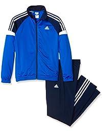 adidas YB TS KN TIB OH - Chándal para niño, color azul/negro/blanco, talla del fabricante 104 DE (0-4 años)