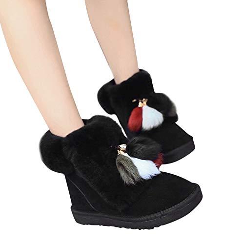 TianWlio Stiefeletten Schuhe Boots Stiefel Damen Herbst Winter Klassische Übergröße Stiefel Outdoor Schwarz Sneaker Schnüren Worker Boots Hochwertiger Stiefel Absatz Kurze Reissverschluss Stiefel