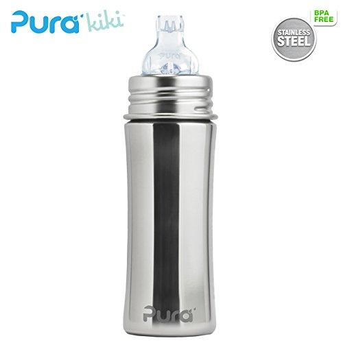 Pura Kiki Trinklernflasche - 325ml - XL Trinklernaufsatz (inkl. Schutzkappe) Pura Farbe/Design Blank